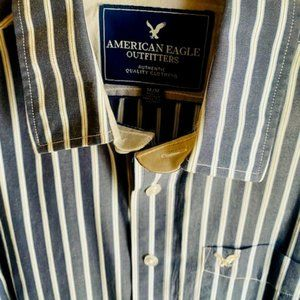 American Eagle Men's Button-Down Dress Shirt